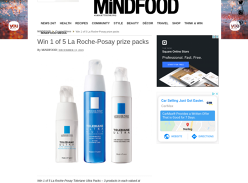Win 1 of 5 La Roche-Posay Prize Packs
