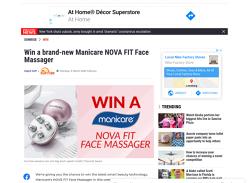 Win 1 of 5 Manicare Nova Fit Face Massagers!
