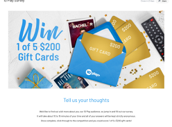 Win 1 of 5 Mastercard Gift Cards