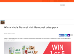 Win 1 of 5 Nad's Natural Hair Removal Prize Packs