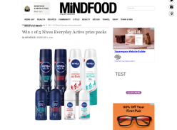 Win 1 of 5 Nivea Everyday Active Prize Packs
