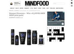 Win 1 of 5 Nivea Men Deep prize packs