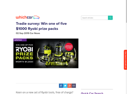 Win 1 of 5 Ryobi Tool Packs
