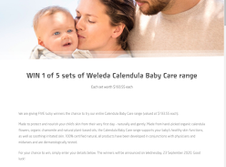 Win 1 of 5 Sets of Weleda Calendula Baby Care Range