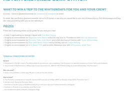 Win 1 of 5 trips to The Whitsundays!