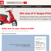 Win 1 of 5 Vespas