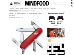 Win 1 of 5 Victorinox Tinker Swiss Army Knife's