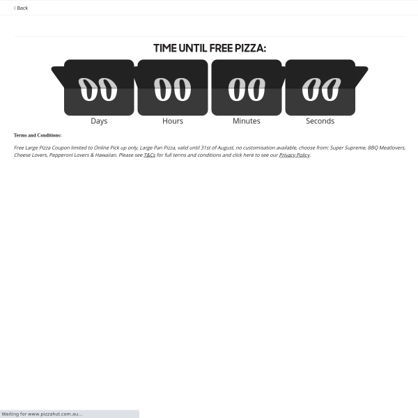 Win 1 of 50,000 Free Pizza vouchers!