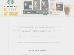 Win 1 of 50 Starbucks at Home Gift Packs!