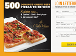 Win 1 of 500 Domino's Pizza Vouchers to be Won