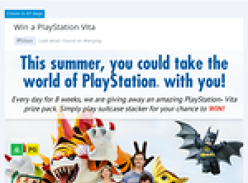 Win 1 of 56 PS Vita prize packs!