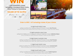 Win 1 of 6 amazing Cruises of your choice!