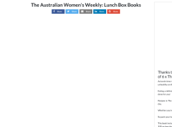 Win 1 of 6 copies of The Australian Womens Weekly: Lunch Box Recipe Books