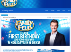 Win 1 of 6 holidays with Family Feud!
