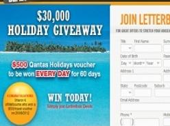 Win 1 of 60 $500 Qantas Holidays Vouchers