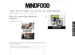 Win 1 of 7 copies of the Alimentari cookbook!