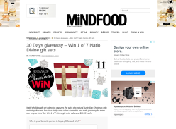 Win 1 of 7 Natio Gift Sets