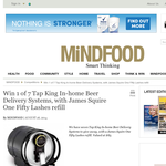 Mind Food - Win 1 of 7 Tap King In-home Beer Delivery Systems, with