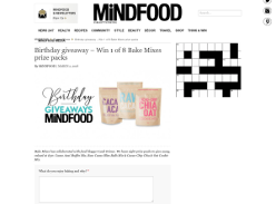 Win 1 of 8 Bake Mixes prize packs