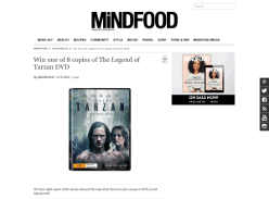 Win 1 of 8 copies of The Legend of Tarzan DVD!
