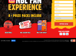 Win 1 of 8 NBL Fan experience prize packs!