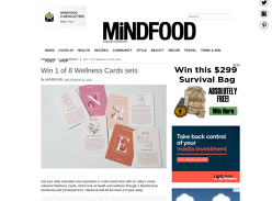 Win 1 of 8 Wellness Cards sets