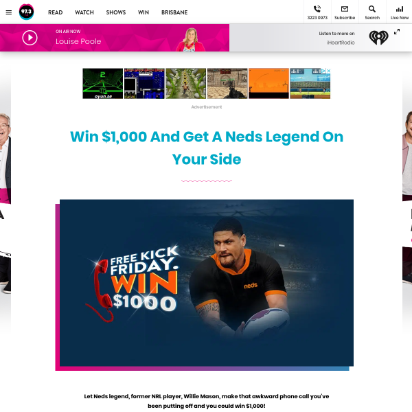 Win 1 of 9 $1,000 Cash Giveaways & More