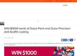 Win $1000 worth of Dulux PRECISION Anti-Graffiti Paint