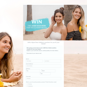Win 2 $500 Dear Addison vouchers for you & your bestie