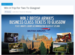 Win 2 British Airways Business Class tickets to Glasgow!