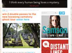 Win 2 double passes to the new toowong cemetery ghost tour