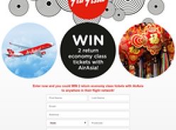 Win 2 return economy class tickets with Air Asia anywhere in their flight network!