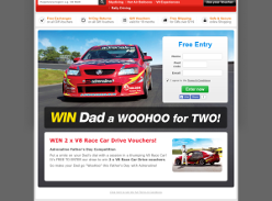 Win 2 V8 race car drive vouchers!