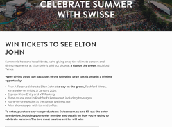 Win 2 VIP Elton John Concert Packages