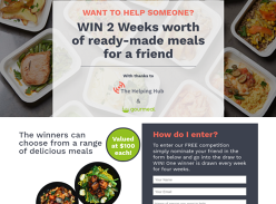 Win 2 Weeks of Ready-Made Meals for a Friend