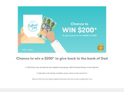 Win $200 to give back to the bank of Dad
