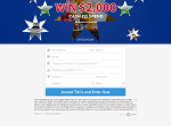 Win $2000 Cash to Spend