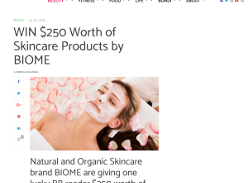 Win $250 Worth of Skincare Products