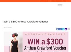 Win $300 Anthena Crawford voucher