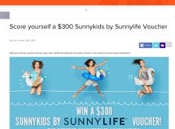Win $300 Sunny Kids by Sunnylife voucher