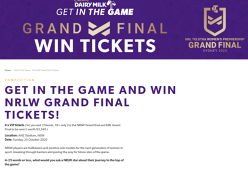 Win 4 x VIP tickets to the NRLW Grand final & NRL Grand Final!
