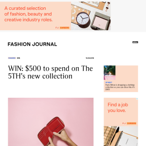 Win $500 to spend on The 5TH's new collection