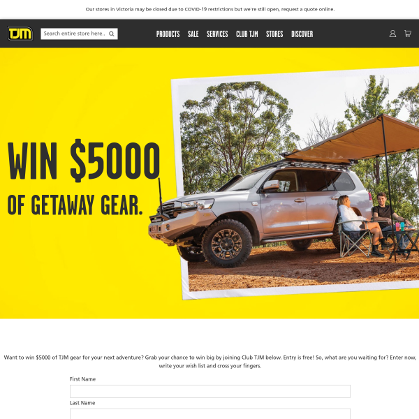 Win $5000 of getaway gear!