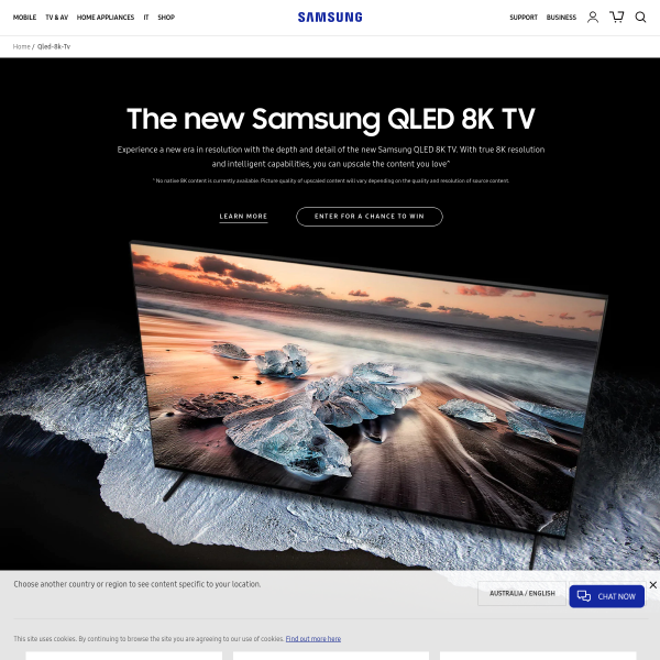 Samsung ~ - Win 8K QLED TV - Competitions com au