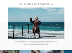 Win a $1,000 Winter wardrobe!