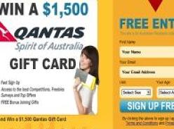 Win a $1,500 Qantas Gift Card