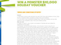 Win a $10,000 'Flight Centre' voucher!