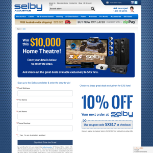 Selby Acoustics - Win a $10,000 home theatre system