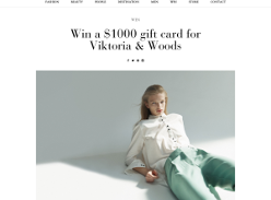 Win a $1000 gift card for Viktoria & Woods