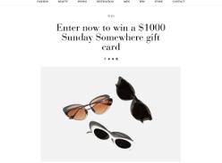 Win a $1000 Sunday Somewhere gift card